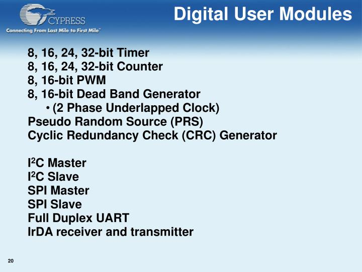 Digital User Modules