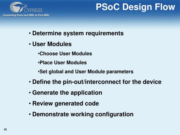PSoC Design Flow