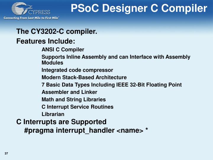 PSoC Designer C Compiler