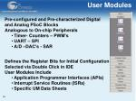 user modules