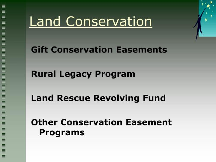 Gift Conservation Easements