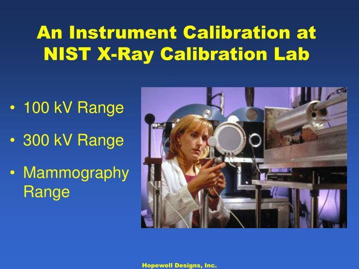 An Instrument Calibration at