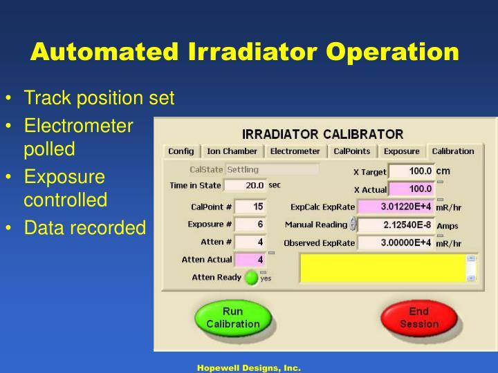 Automated Irradiator Operation