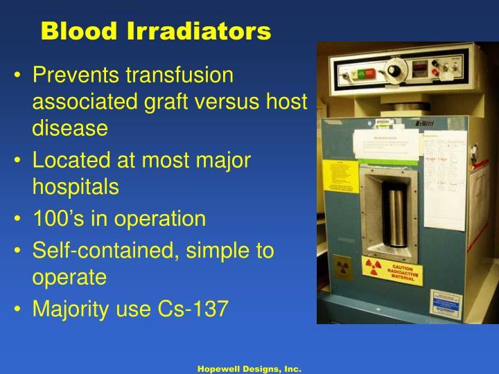 Blood Irradiators