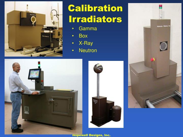 Calibration Irradiators