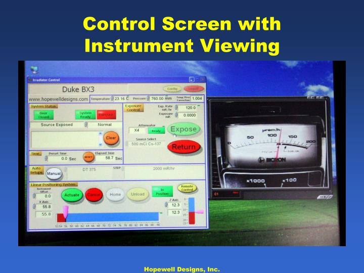 Control Screen with Instrument Viewing