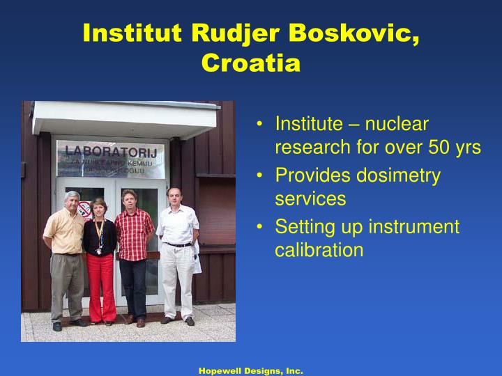 Institute – nuclear research for over 50 yrs