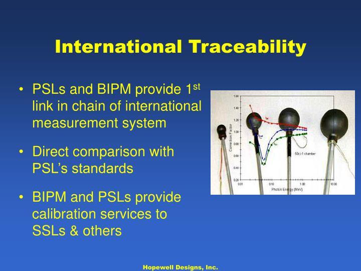 International Traceability