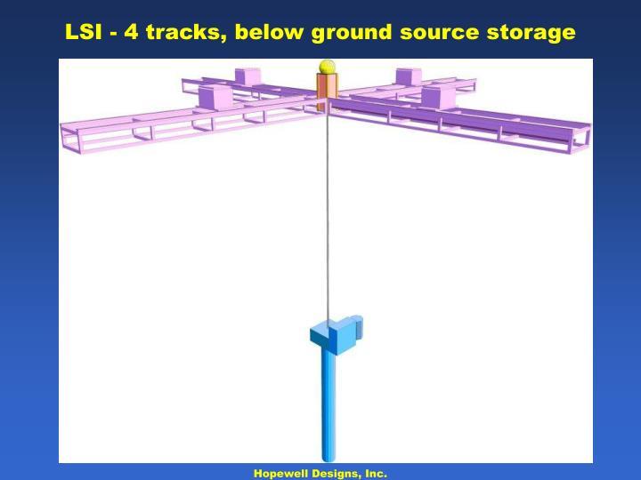 LSI - 4 tracks, below ground source storage