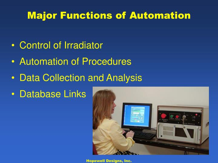 Major Functions of Automation