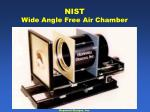 nist wide angle free air chamber