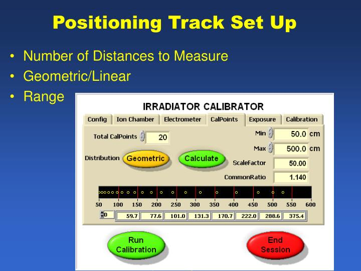 Positioning Track Set Up