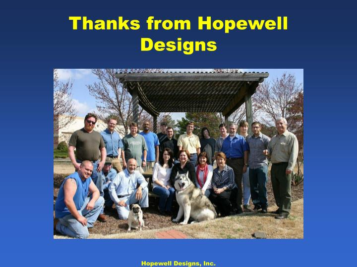 Thanks from Hopewell Designs
