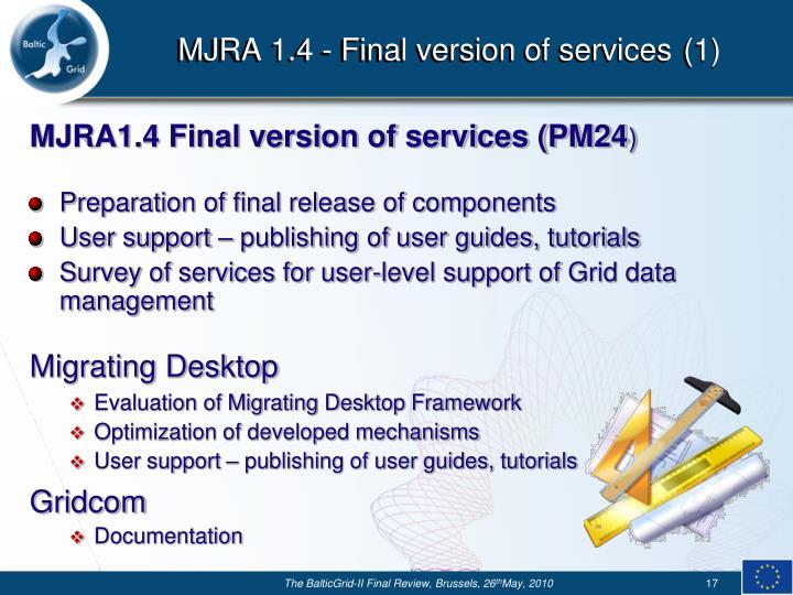 MJRA 1.4 -