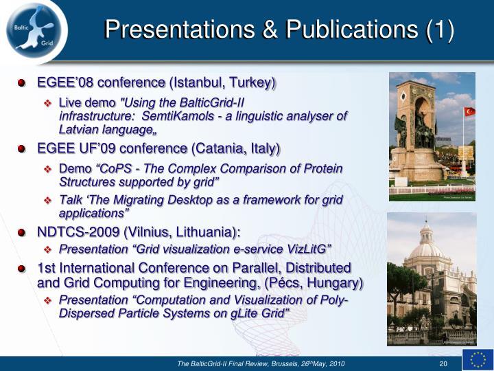 Presentations & Publications (1)