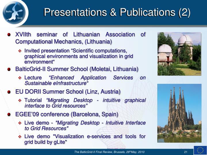 Presentations & Publications (2)