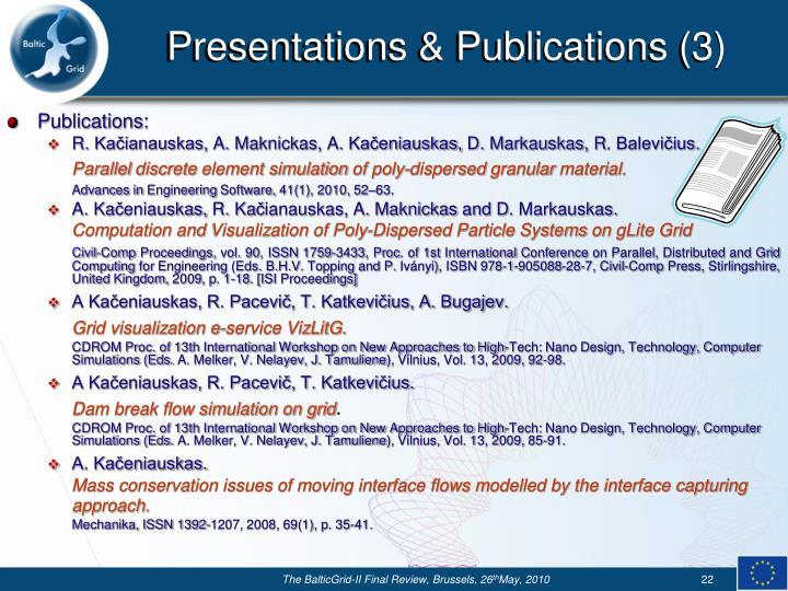 Presentations & Publications (3)