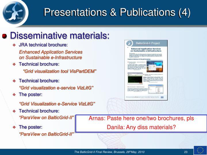 Presentations & Publications (4)