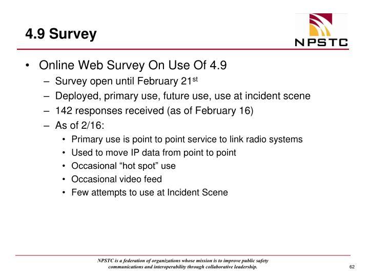 4.9 Survey