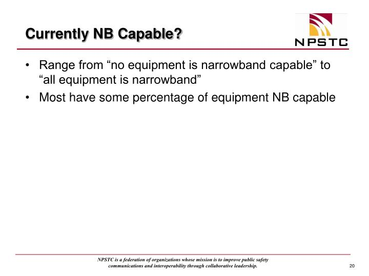 Currently NB Capable?