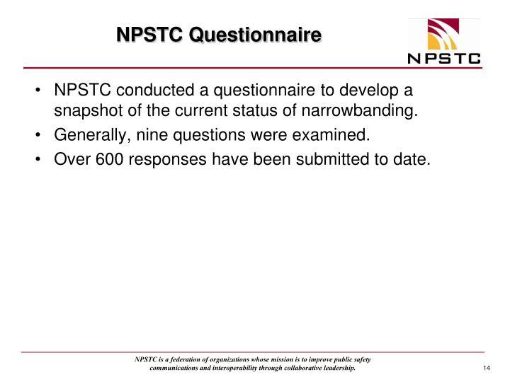 NPSTC Questionnaire