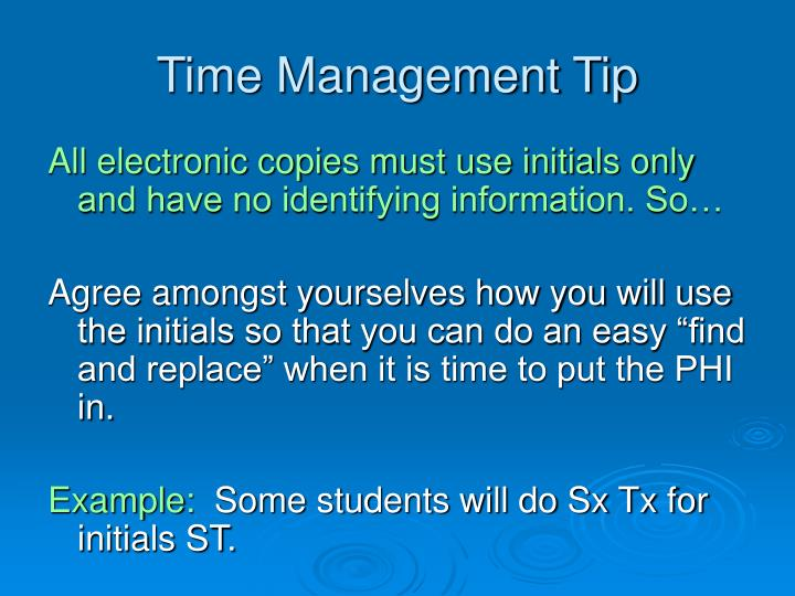 Time Management Tip