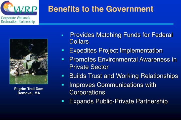Benefits to the Government