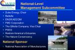 national level management subcommittee
