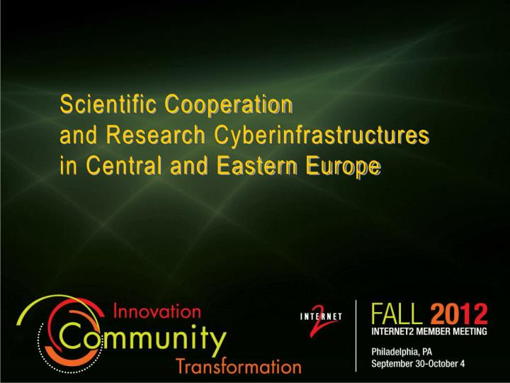 Scientific cooperation and research cyberinfrastructures in central and eastern europe