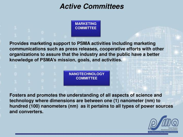 Active Committees
