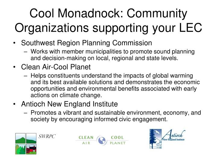Cool Monadnock: Community Organizations supporting your LEC