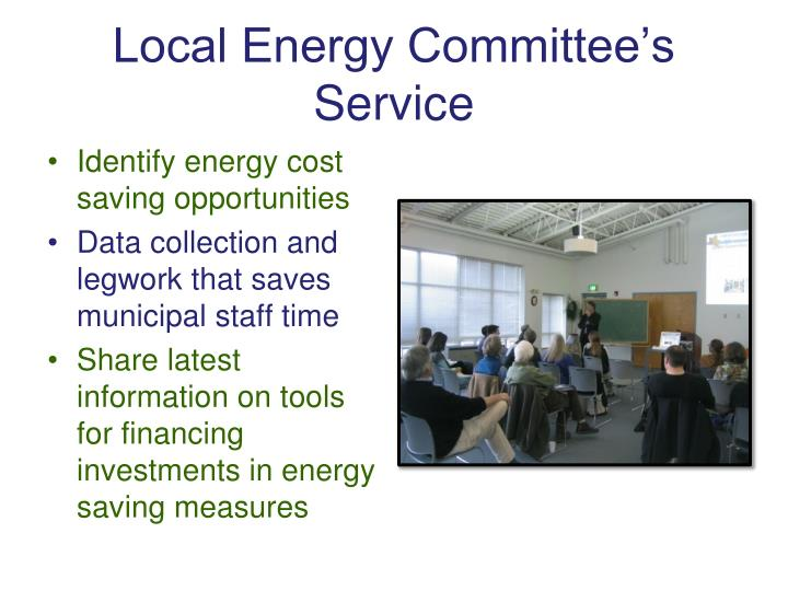 Local energy committee s service