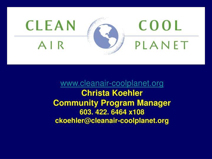 www.cleanair-coolplanet.org
