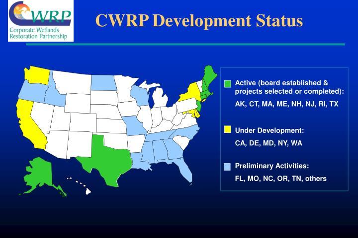 CWRP Development Status