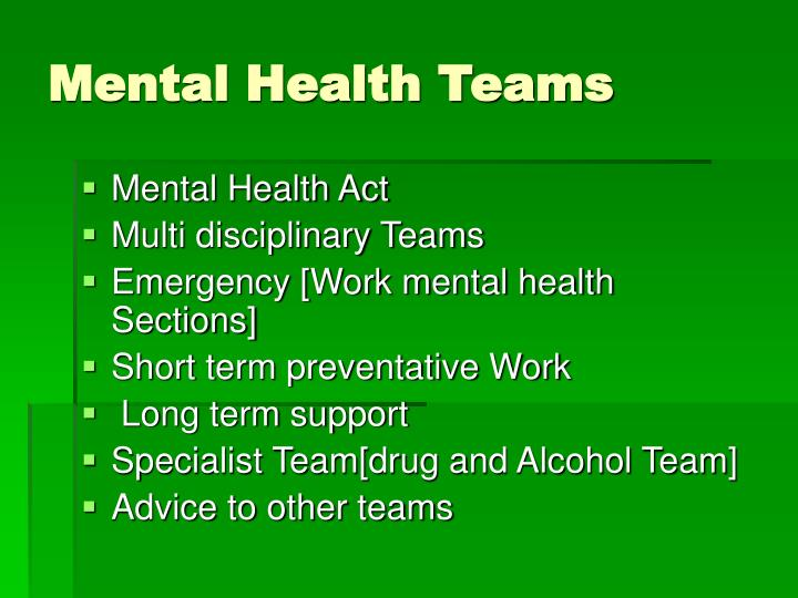 Mental Health Teams