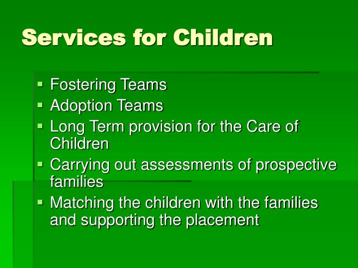 Services for Children