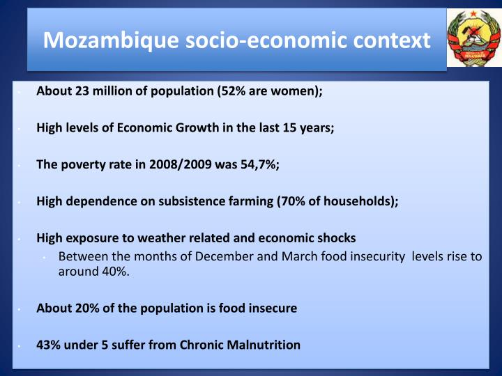 Mozambique socio economic context