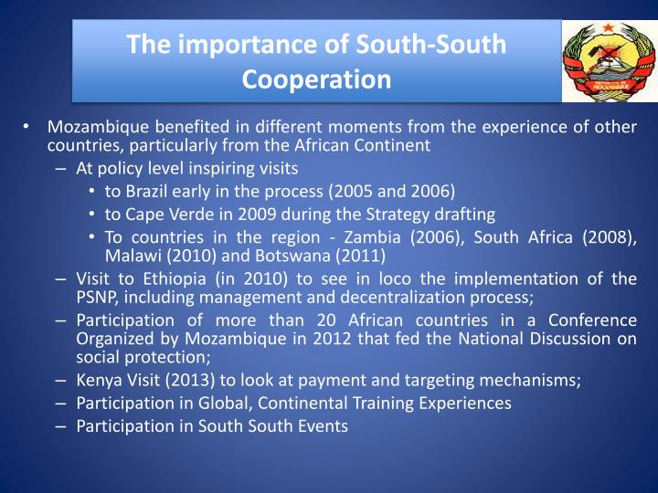 The importance of South-South Cooperation