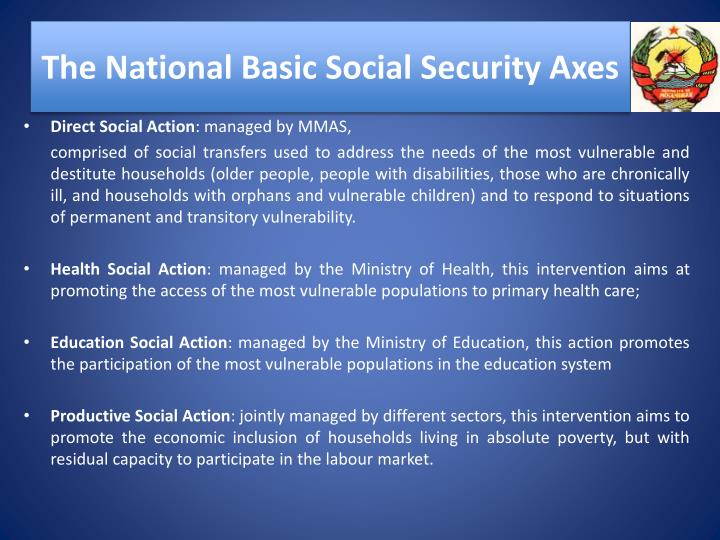 The National Basic Social Security Axes
