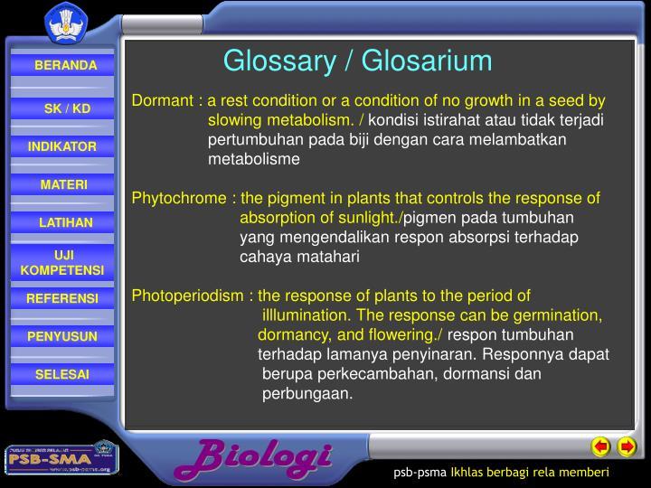 Glossary / Glosarium