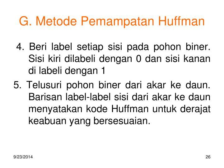 G. Metode Pemampatan Huffman