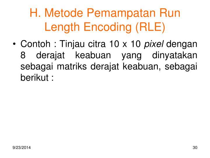 H. Metode Pemampatan Run Length Encoding (RLE)