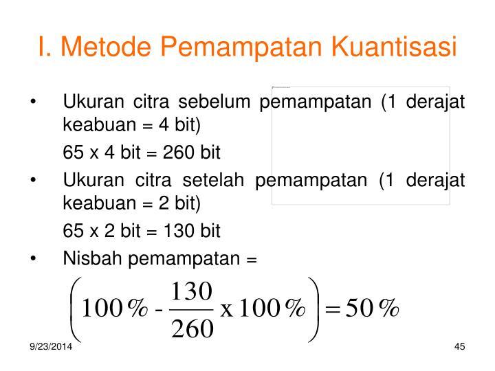 I. Metode Pemampatan Kuantisasi