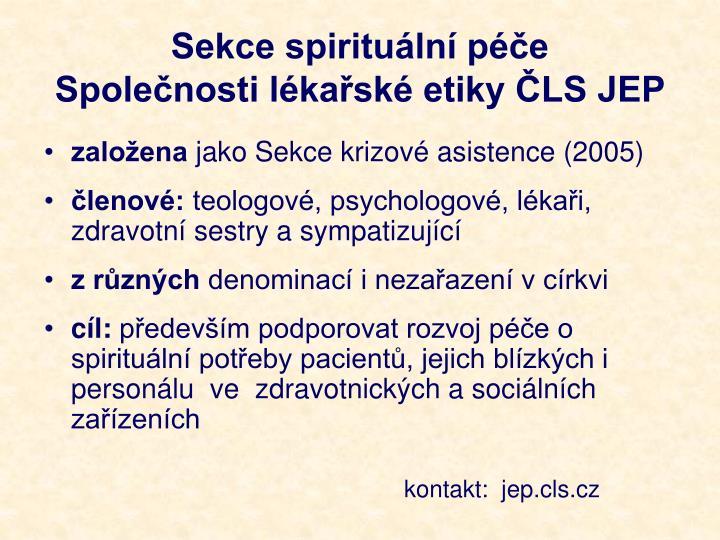 Sekce spirituální péče