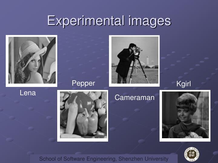 Experimental images