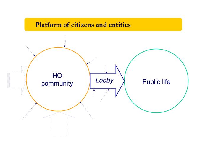 Platform of citizens and entities