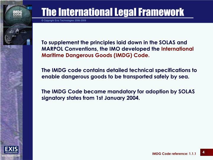 international legal framework