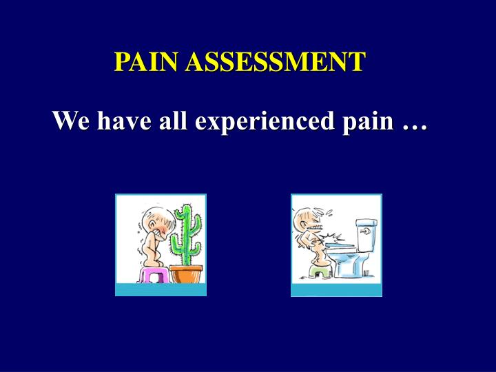 We have all experienced pain …
