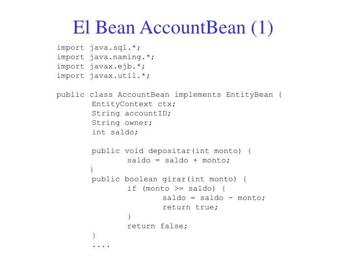 El Bean AccountBean (1)