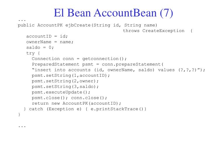El Bean AccountBean (7)